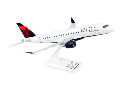 Skymarks Delta Connection Republic Airways ERJ175 1/100 Scale Plane with Stand