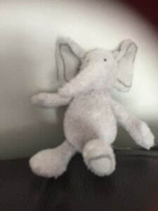 MOTHERCARE-ELEPHANT-SOFT-TOY-small-Grey-stitched-EARS-FEET-CUDDLY-COMFORTER-c5