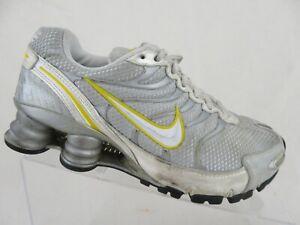 NIKE-Shox-NZ-Livestrong-Grey-Yellow-Sz-6-Women-Running-Shoes