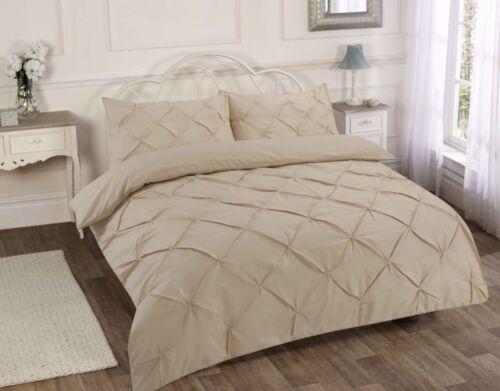 Diamond Pintuck Premium Duvet Quilt Cover Ruffle Bedding Set