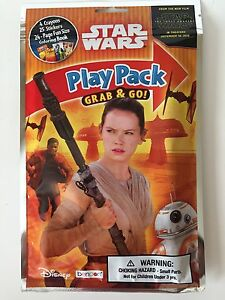 Star Wars The Force Awakens Grab Go Playpack Crayons Stickers