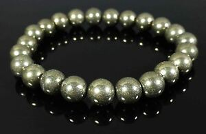 Image Is Loading Pyrite Bracelet Theutic Gemstone