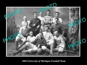 OLD-LARGE-HISTORIC-PHOTO-OF-THE-UNIVERSITY-OF-MICHIGAN-FOOTBALL-TEAM-c1884