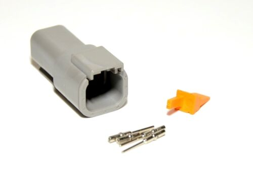 20-22AWG Solid Contacts USA Deutsch DTM 4-Pin Genuine Male Connector Kit