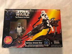 1995-Imperial-Speeder-Bike-amp-Biker-Scout-Star-Wars-POTF-MISB-NEW
