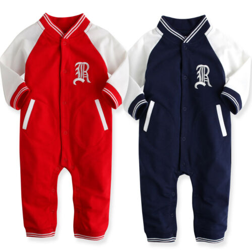 "NWT Vaenait Baby Newborn Infant Girl All-In-One Jumpsuit Onepiece /"" Baseball R/"""