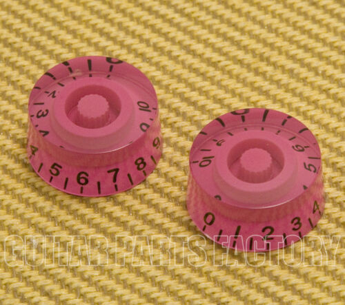 Pink Metric Speed Knobs 6mm Split Shaft Pots Import Guitars 2 PK-MSI-HP