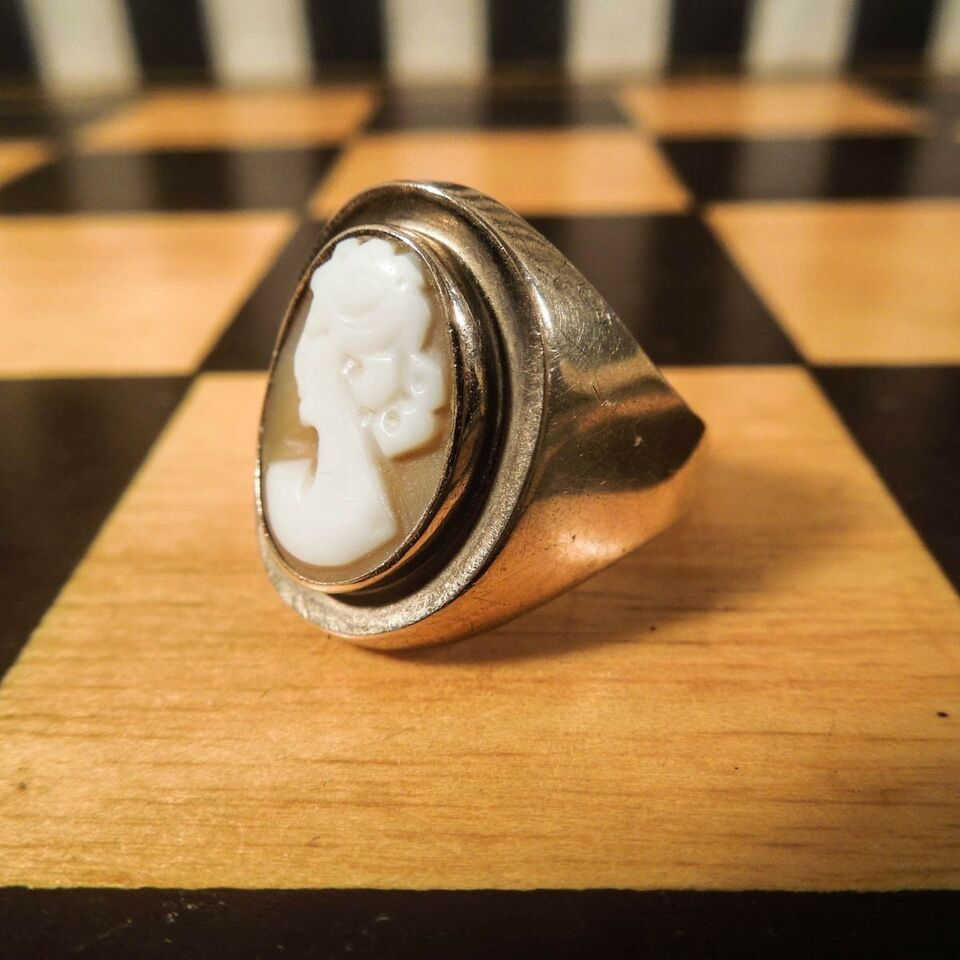 Fingerring, guld, VINTAGE RING FRA 1950´ERNE I 8 KARAT GULD