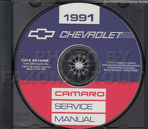 1991 camaro shop manual cd chevrolet repair service rs z28 includes wiring ebay. Black Bedroom Furniture Sets. Home Design Ideas