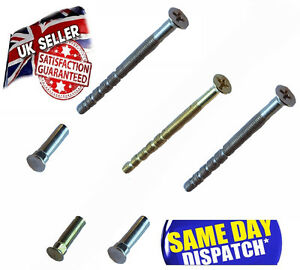 External Door Handle Connecting Screw Bolt with CARRIAGE, COACH Sleeve for UPVC