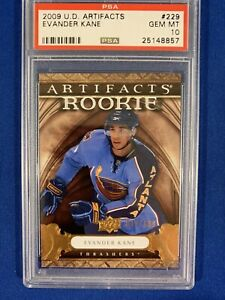 2009-Upper-Deck-Artifacts-EVANDER-KANE-PSA-10-Gem-Mint-Rookie-POP-1-32-699