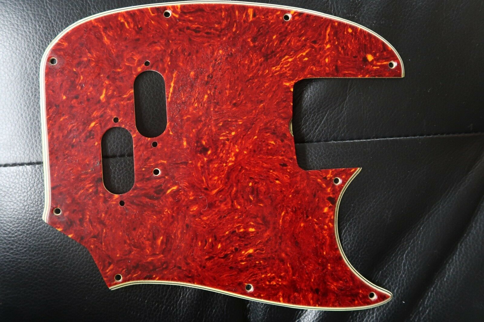 60's 70's Fender Mustang Bass Celluloid Pickguard  tortoise Nitrate USA Vintage