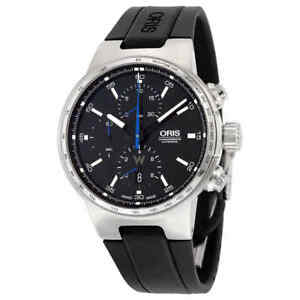 Oris-Williams-Chronograph-Automatic-Black-Dial-Black-Rubber-Men-039-s-Watch-01-774