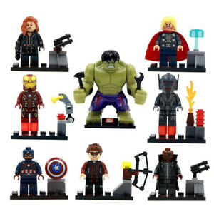 Bausteine-Figur-Super-Hero-Captain-America-Batman-Hulk-Black-Widow-Toy-Gift-8PCS