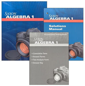 Saxon-Math-Algebra-1-Homeschool-Kit-With-Solutions-Manual-4th-Edition-NEW