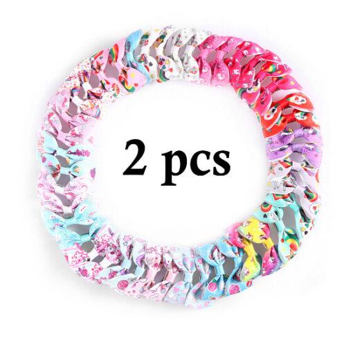 Kids 2//5//10Pcs Unicorn Pattern Grosgrain Hair Bows Clip Girls Hair Accessories