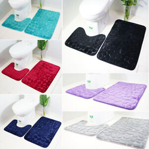 2PCS-Bathroom-Toilet-Non-Slip-Extra-Mat-Suction-Grip-With-Rubber-Backing-34