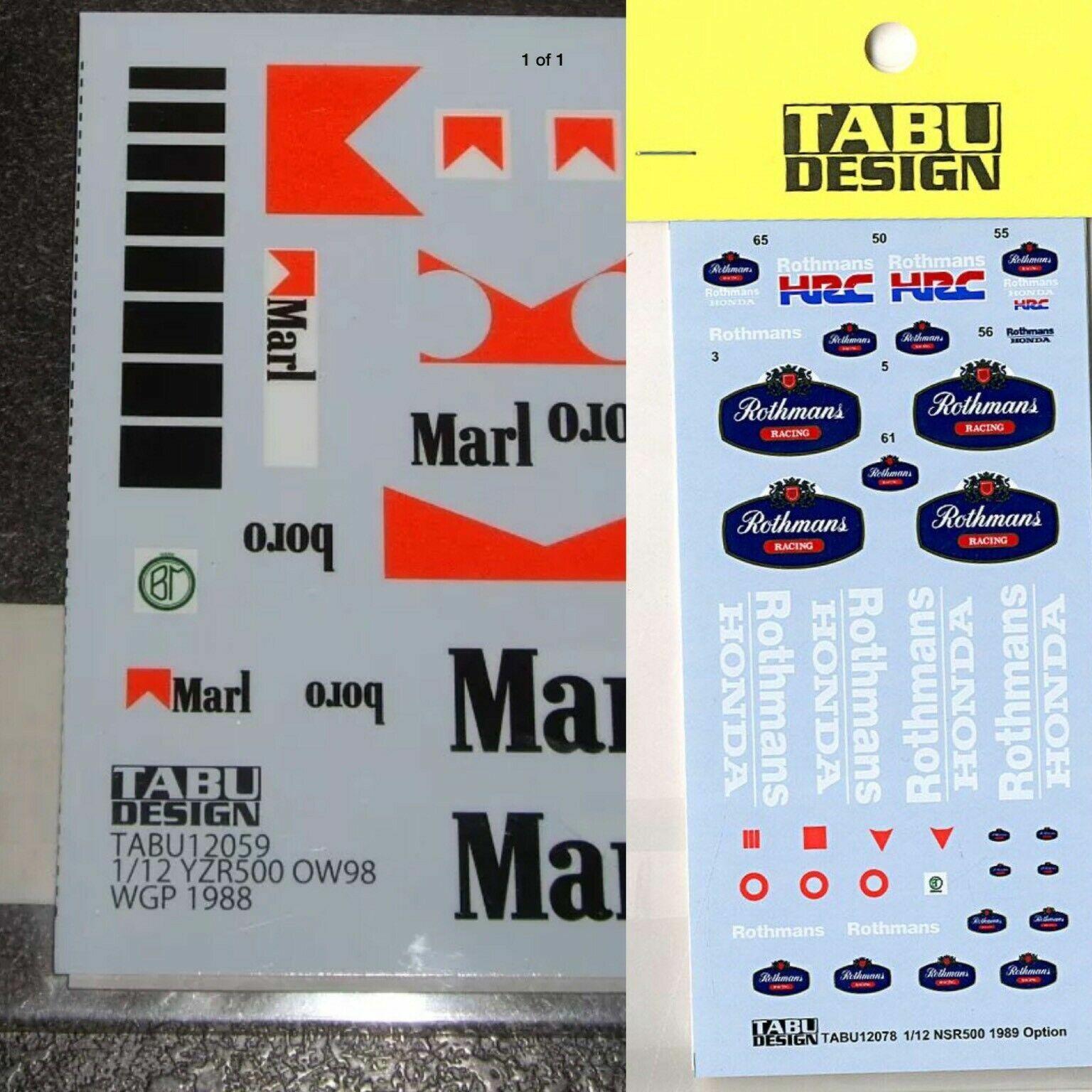 Tabu Design 1  12 YZR500 OW98 och NSR500 Decaks