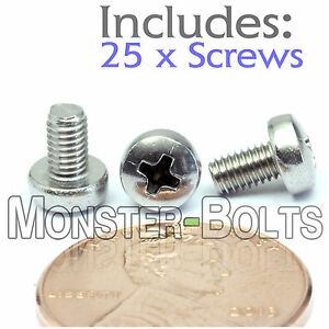 3mm x 0.50 x 5mm – Qty 25 – Stainless Steel Phillips pan head Machine Screws M3