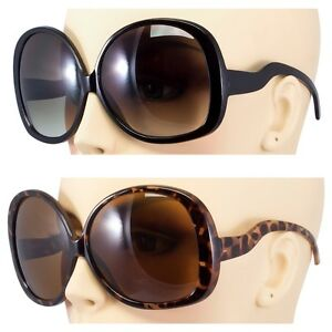 ad47253778b Details about 2 PAIR Huge Extra Oversized Large Womens Vintage Round  Sunglasses Tortoise Black