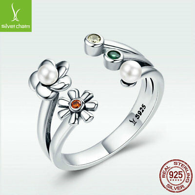 Voroco Daisy/'s Song 925 Sterling Silver Meaningful Ring Confess For Love Jewelry