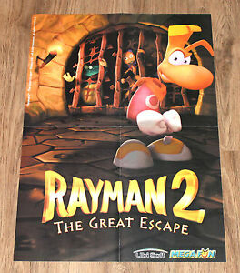 1999 Final Fantasy VIII 8 & Rayman 2 The great escape very rare Poster 56x40cm - <span itemprop='availableAtOrFrom'>Braunschweig, Deutschland</span> - 1999 Final Fantasy VIII 8 & Rayman 2 The great escape very rare Poster 56x40cm - Braunschweig, Deutschland