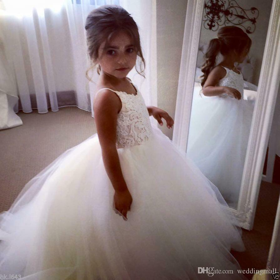 New Lace Mermaid Flower Girl Dress Kids Birthday Party First Communion Dresses