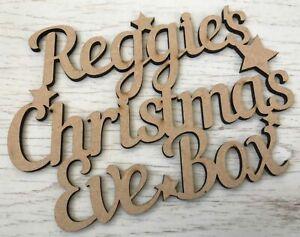 Personalizzata-in-LEGNO-VIGILIA-DI-NATALE-DECORAZIONI-PER-BOX-MDF-Craft-PLACCA-Natale-Kids