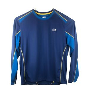 The-North-Face-Long-Sleeve-FlashDry-Athletic-Shirt-Mens-Size-Large-Blue
