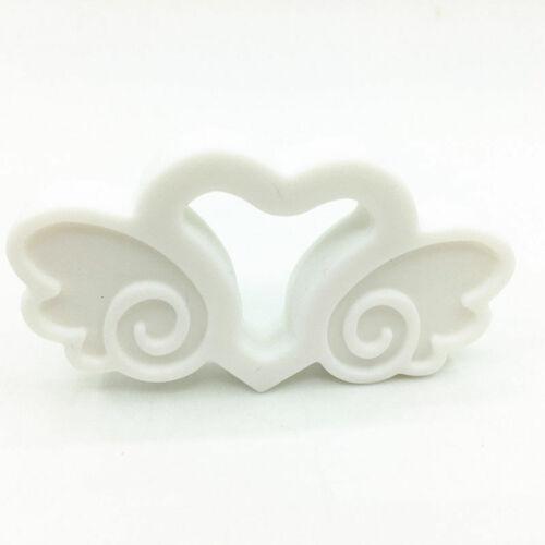 Angel Heart Silicone Bead Pendant Teether DIY Baby Chewable Teething Sensory Toy