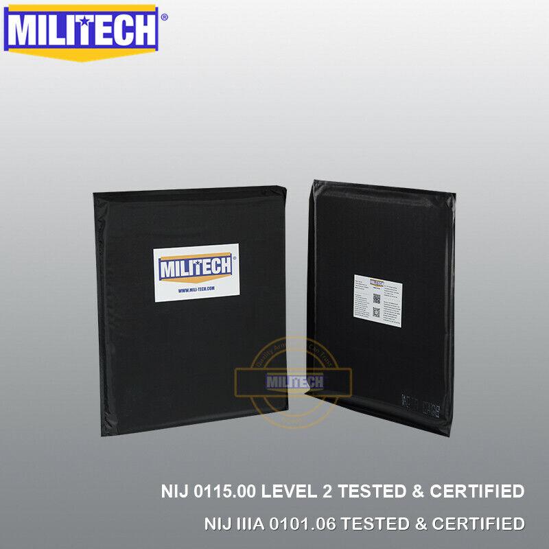 MILITECH Multi-Threat 10X12 SC Cut Pair Ballistic IIIA & Lvl 2 Stab Soft Armor