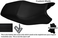 BLACK STITCH CUSTOM FITS DUCATI ST2 ST4 DUAL REAL LEATHER SEAT COVER