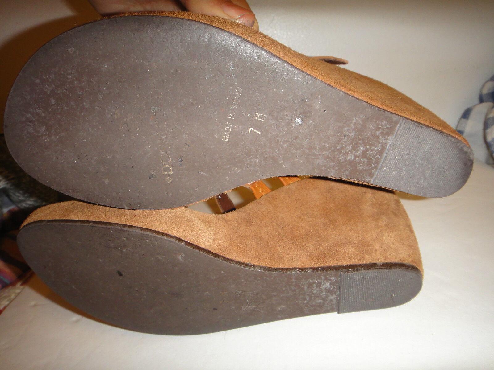 Donald J Pliner Größe 7 M Damens Wedge Sandales platform strappy