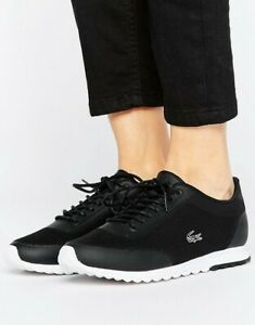 a3cf6508587aa6 Image is loading Womens-Lacoste-Shoes-Black-Sneakers-Helaine-Runner-116-