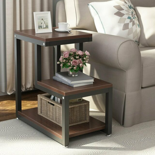 Small Round Folding Table Vintage Home Bedside Living Room Side End Coffee Stand