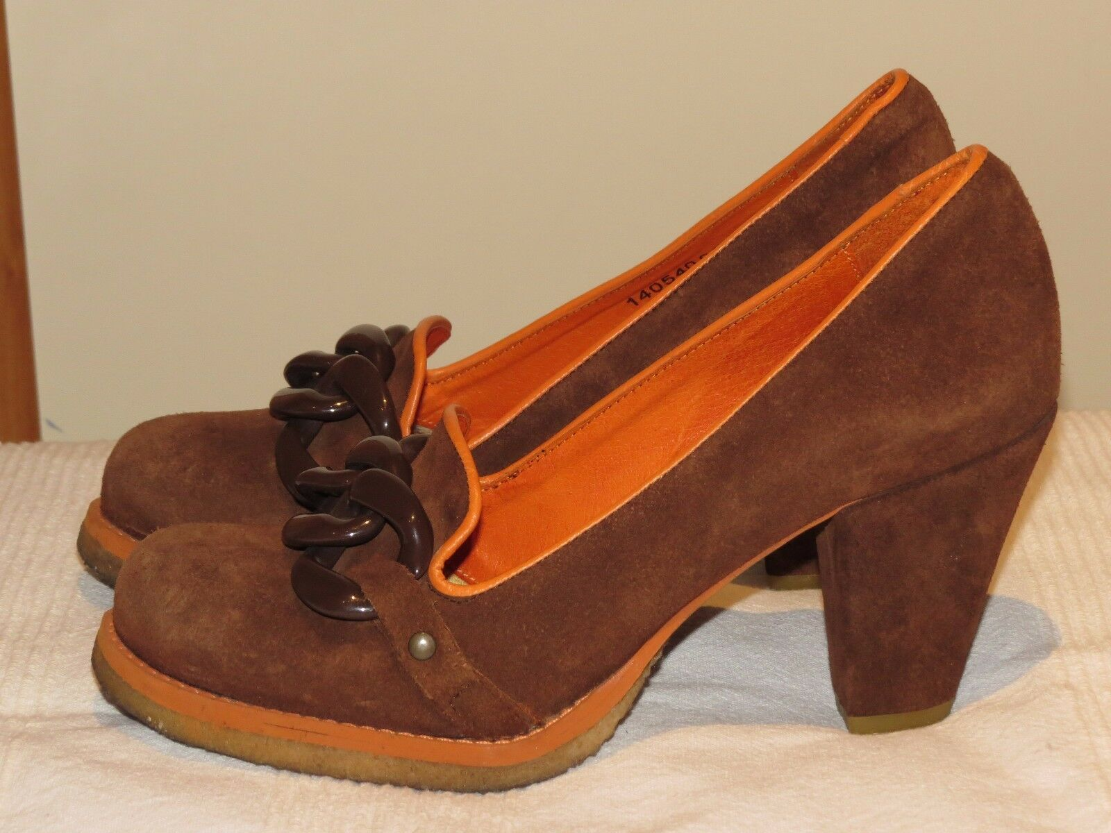 FLY LONDON FLY GIRL SHOES BROWN SUEDE LEATHER COURT SHOES GIRL 3