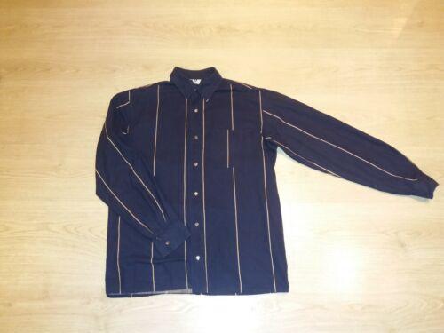 VINTAGE VUOKKO striped cotton shirt blouse size M