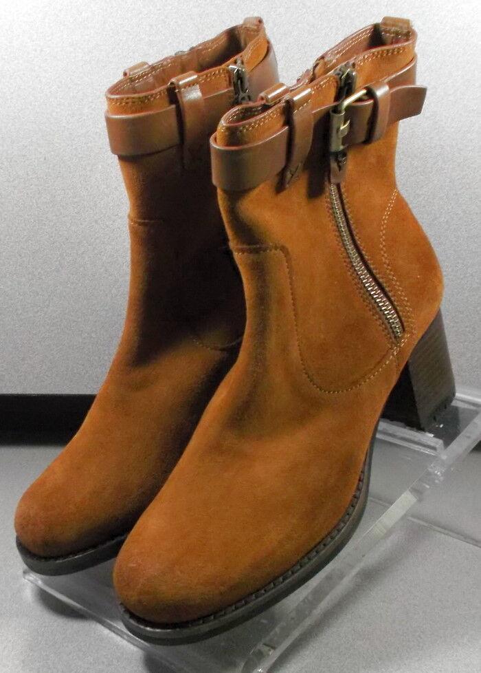361292 LTSPBTT50 Women's shoes Size 7 M M M Dak Tan Suede Boots  H.S. Trask 62ef48