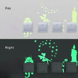 Cute-3D-Cats-Luminous-Switch-Wall-Stickers-Night-Light-Home-Fluorescent-Sticker