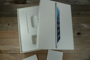 iPad Air WiFi Box for 16GB Silver Model A1474 White EMPTY BOX ONLY!