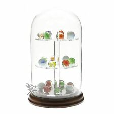 Glass Dome Display Case for Marble, Sphere, Egg & Round Item Collections