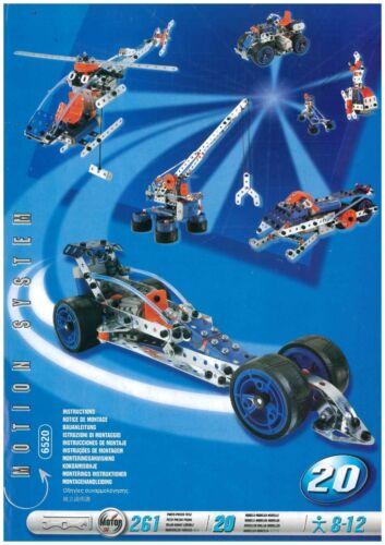Meccano 20 Model Set Model Book