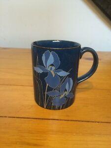 Otagiri Coffee Mug Blue Floral Made In Japan
