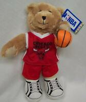 Chicago Bulls Nba Soft Teddy Bear W/ Basketball 13 Tan Stuffed Animal Toy