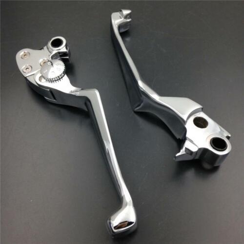 Handle Brake Clutch Skull Lever For Harley Softail Springer FXSTS Standard FXST