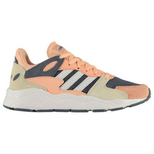 Kids Girls adidas Chaos Junior Trainers Runners Shoes Stripe New
