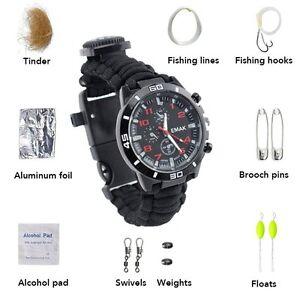 Waterproof-Survival-Tactical-Emergency-Watch-Bracelet-Fire-Starter-Compass-Kit