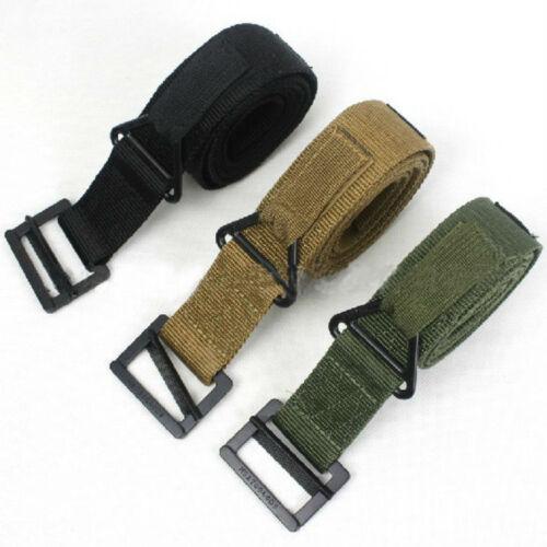 Survival Adjustable Tactical Belt Combat Military Emergency Rescue Rigger Strap