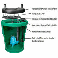 Little Giant 10jf3v2d - Pit Plus® Jr. 1/2 Hp Premium Simplex Sewage Syste...