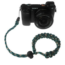 Green/Brown/White Quick Release 550 Paracord Adjustable Camera Wrist Strap